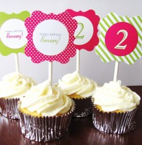 Girl Birthday Party Cupcakes
