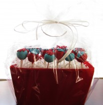 Blue & Red Birthday Cake Pops
