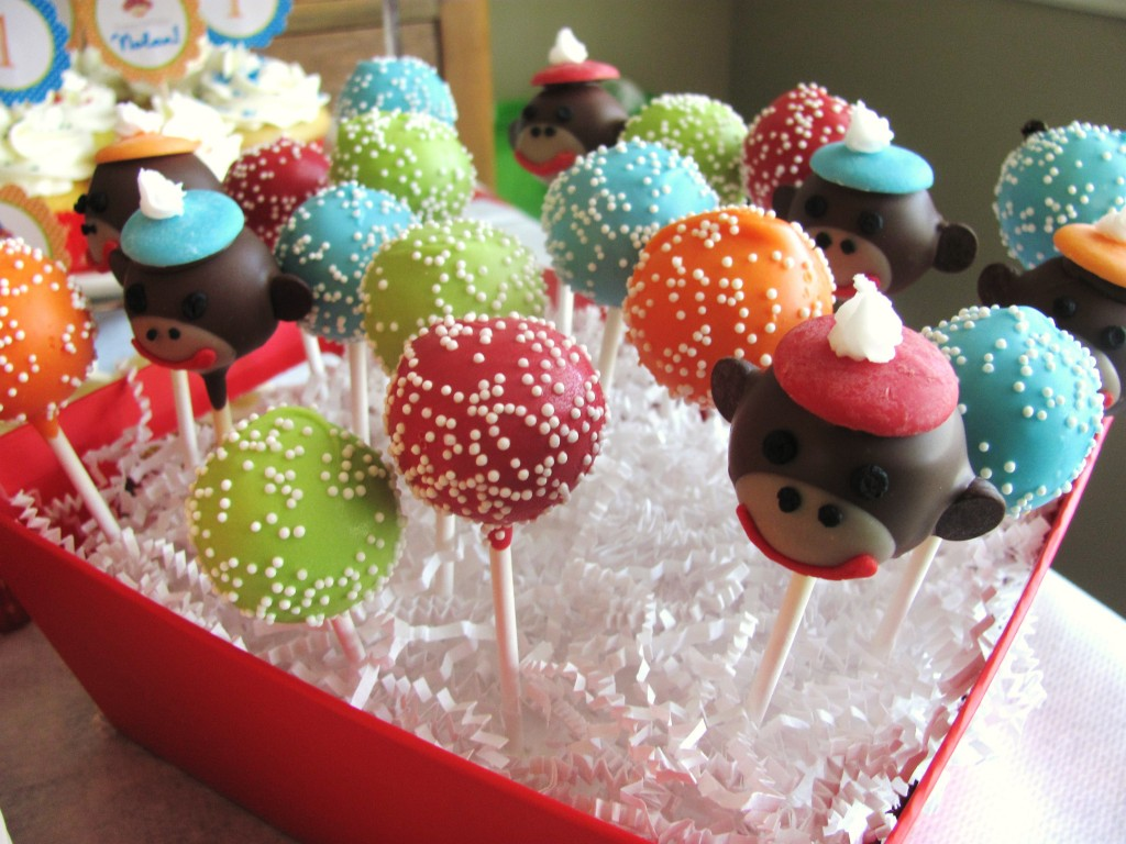 Sock Monkey Cake Pops