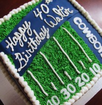 Cowboys 40th Birthday Cake