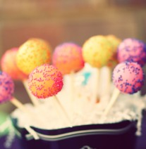 Colorful Birthday Cake Pops