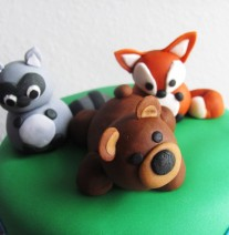 Raccoon, Bear and Fox Cake Toppers
