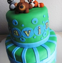 Woodland Creatures Cake Baby Shower Boy