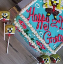 Sponge Bob Cake Pops and Birthday Cake