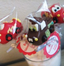 Cars Cake Pops Lightening McQueen and Mater