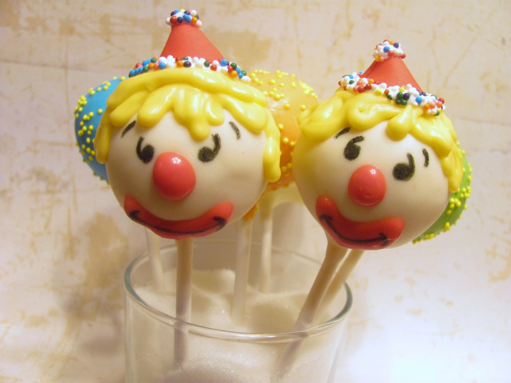Circus Clown Cake Pops