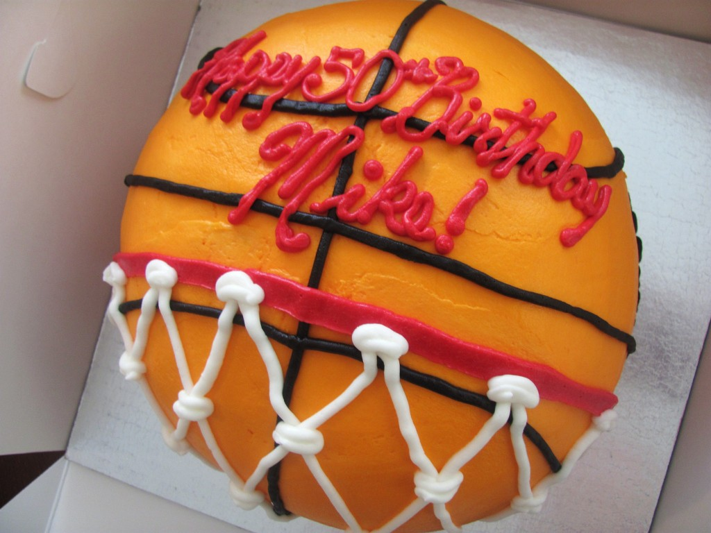 March Madness Basketball Cake