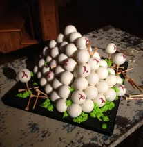 Groom's Cake - Golf Ball Cake Pops