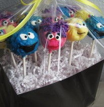 Sesame Street Cake Pops