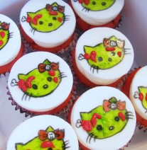 Hello Kitty Zombie Cupcakes