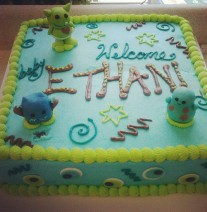 Monster Baby Shower Cake