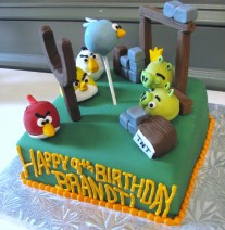 Angry Birds Cake and Cake Pops