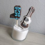 Cowboy Boot and Guitar Cake Pops