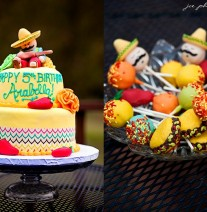 Mexican Cake and Sombrero Chili and Taco Cake Pops
