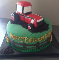 Farm Tractor Birthday Cake