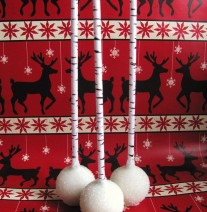 Christmas Cake Pops Birch Paper Straws