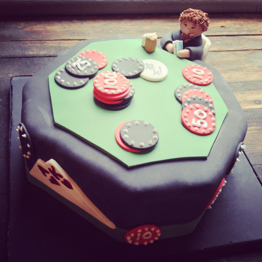 Poker Groom's Cake