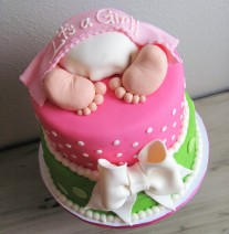 Baby Bottom Baby Shower Cake Girl