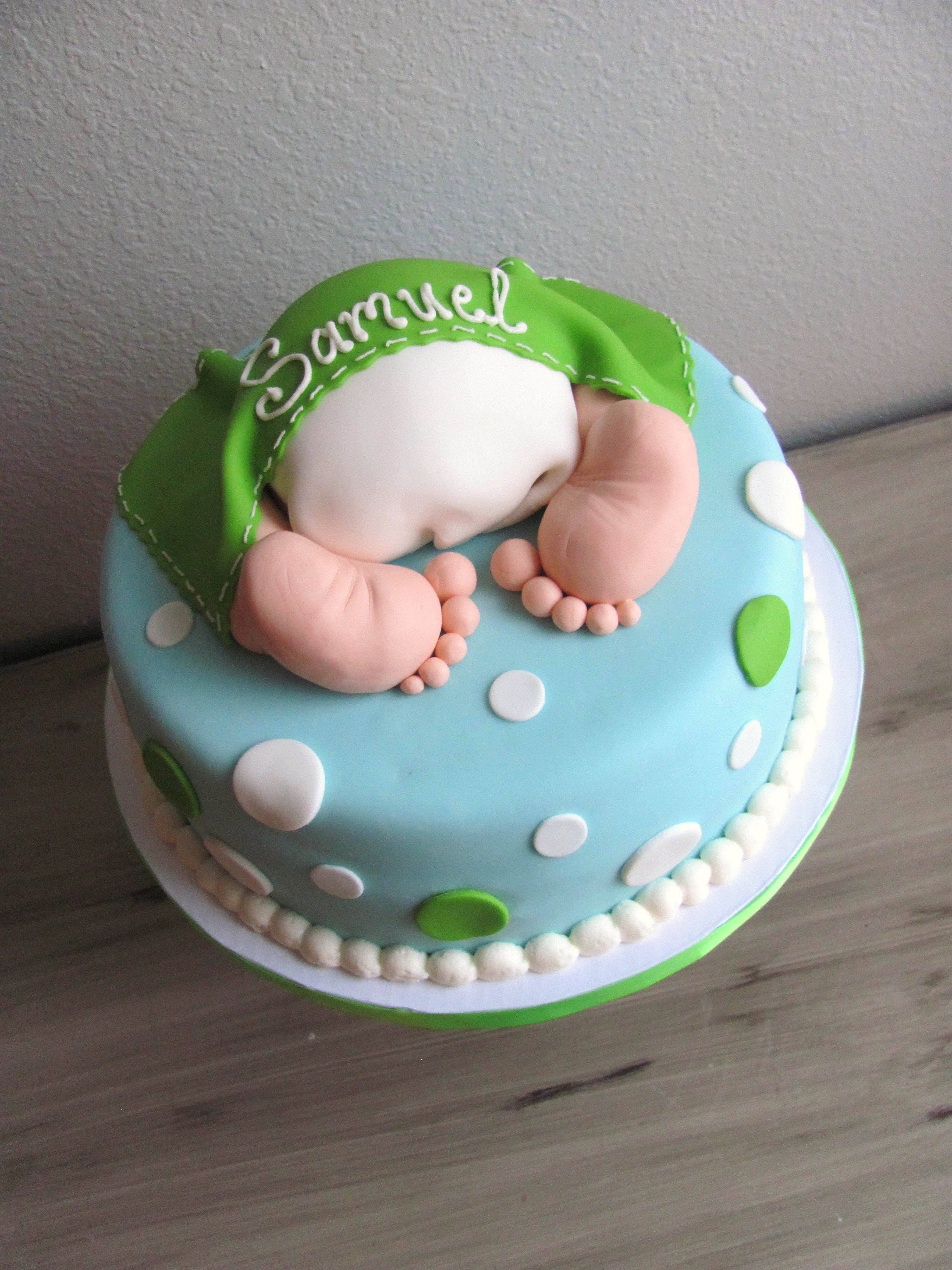 baby butt baby shower cake boy