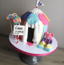 Circus Carnival Birthday Cake