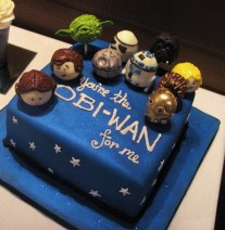 Star Wars Groom's Cake and Cake Pops