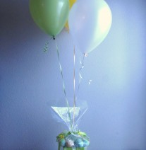 Cake Pop Arrangement with Balloons
