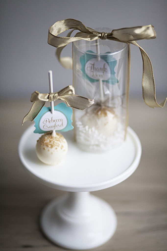 Cake Pop Favors and Escort Cards