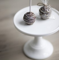 Brown Cake Pops with Twine