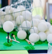 Golf Ball Cake Pops Groom's Cake