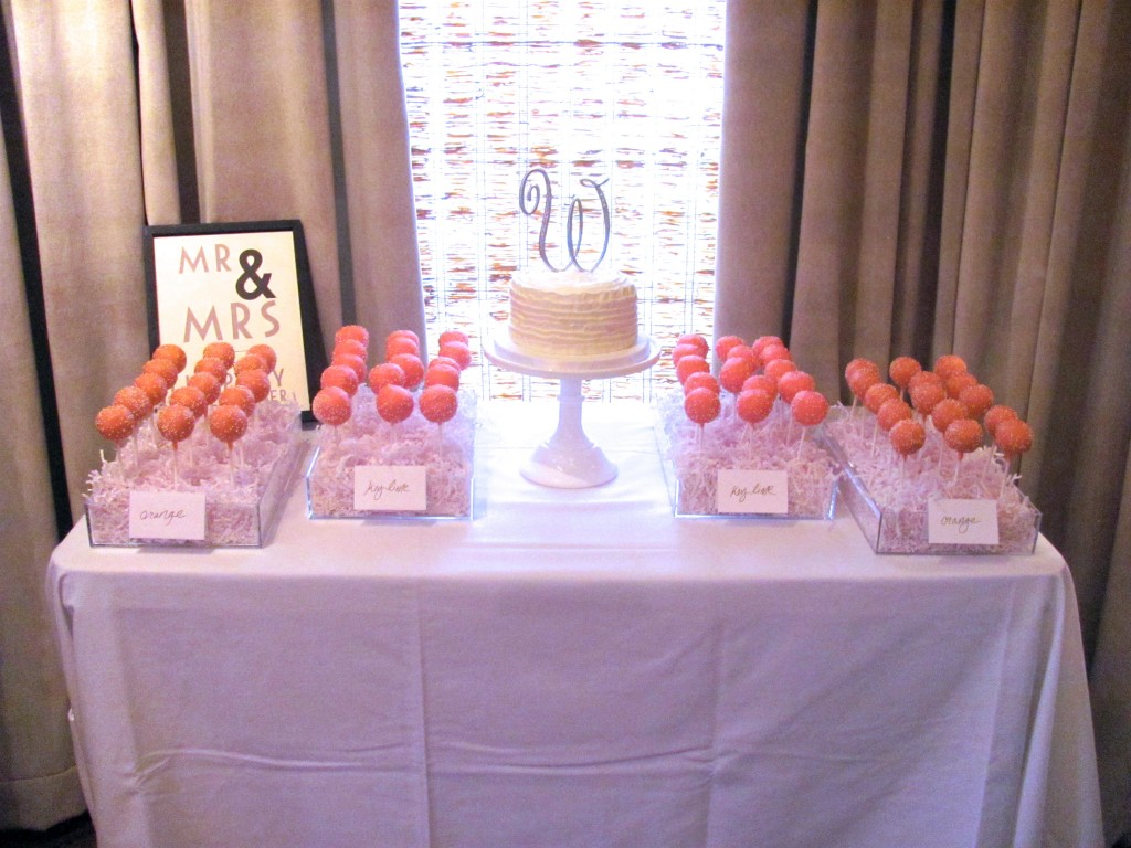 Buttercream Wedding Cake and Cake Pops