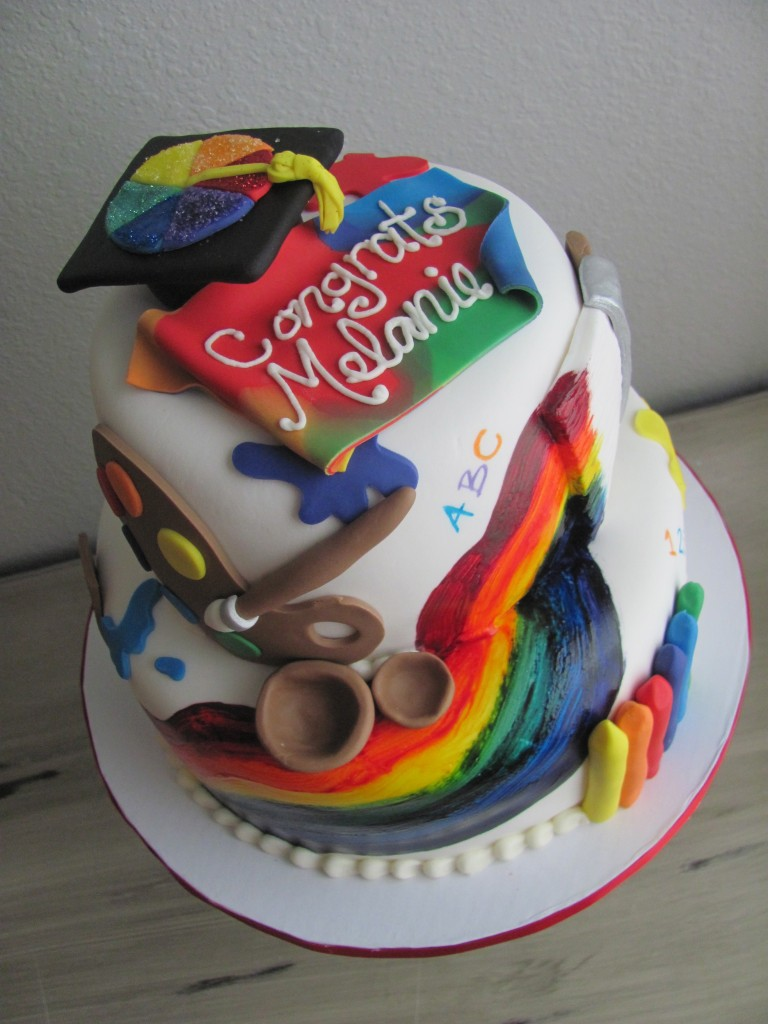 Art Teacher Graduation Cake