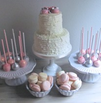 Pink and Grey Baby Shower Sweets