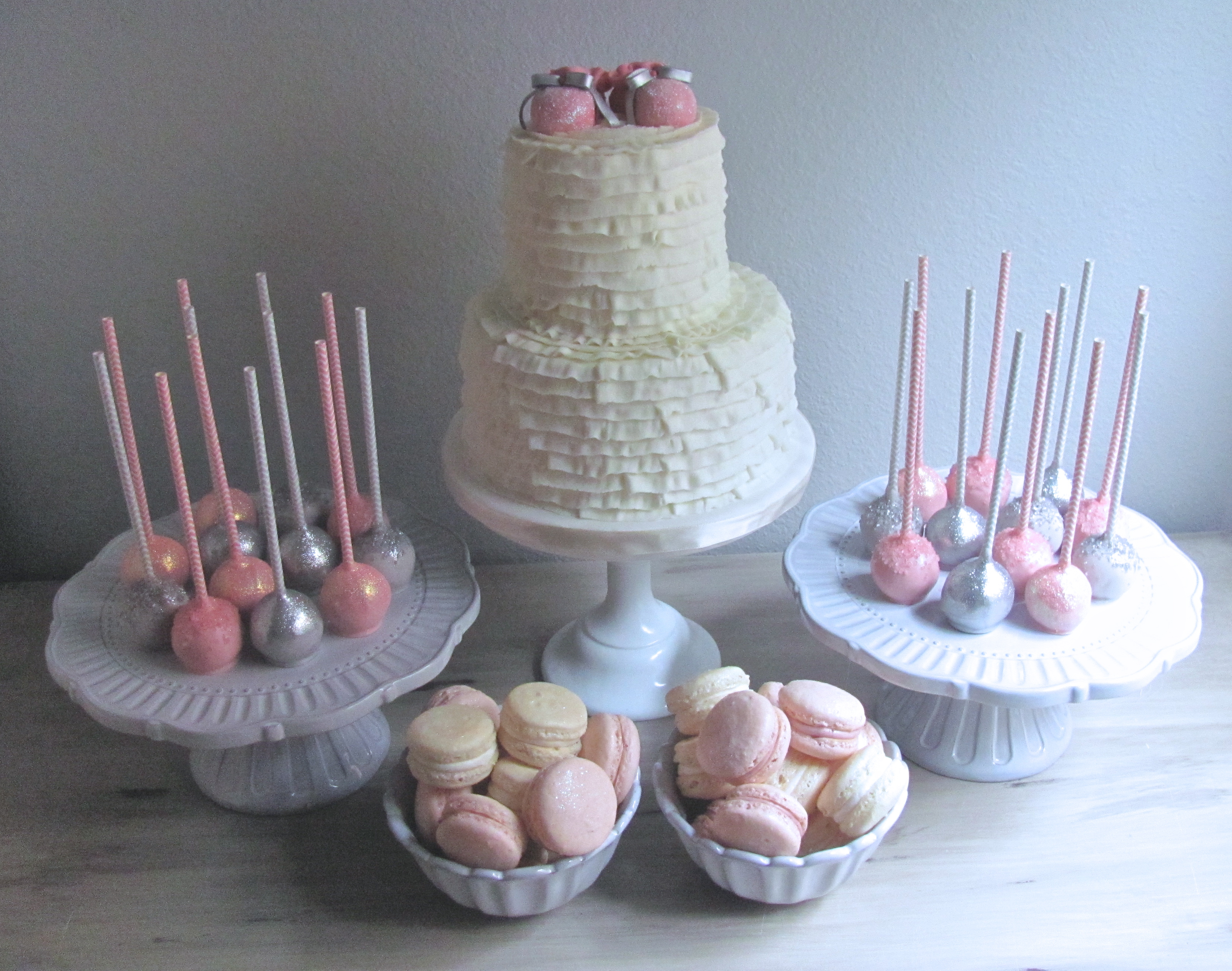 pink and grey baby shower sweets nashville sweets