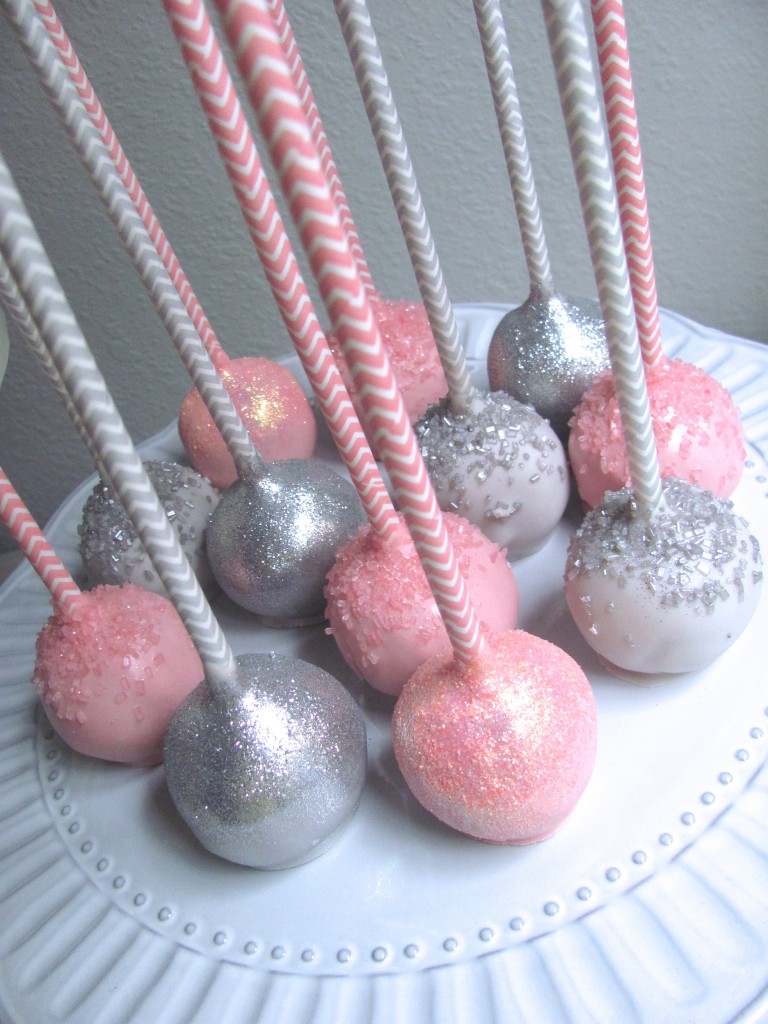 Pink and Grey Cake Pops