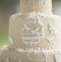 Ivory Bird Cage Wedding Cake