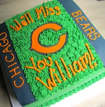 Chicago Bears Football Cake