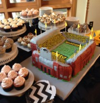 Iowa Football Stadium Cake