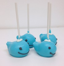 Whale Cake Pops