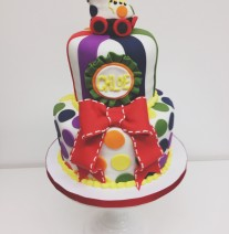 Colorful Roller Skate Cake