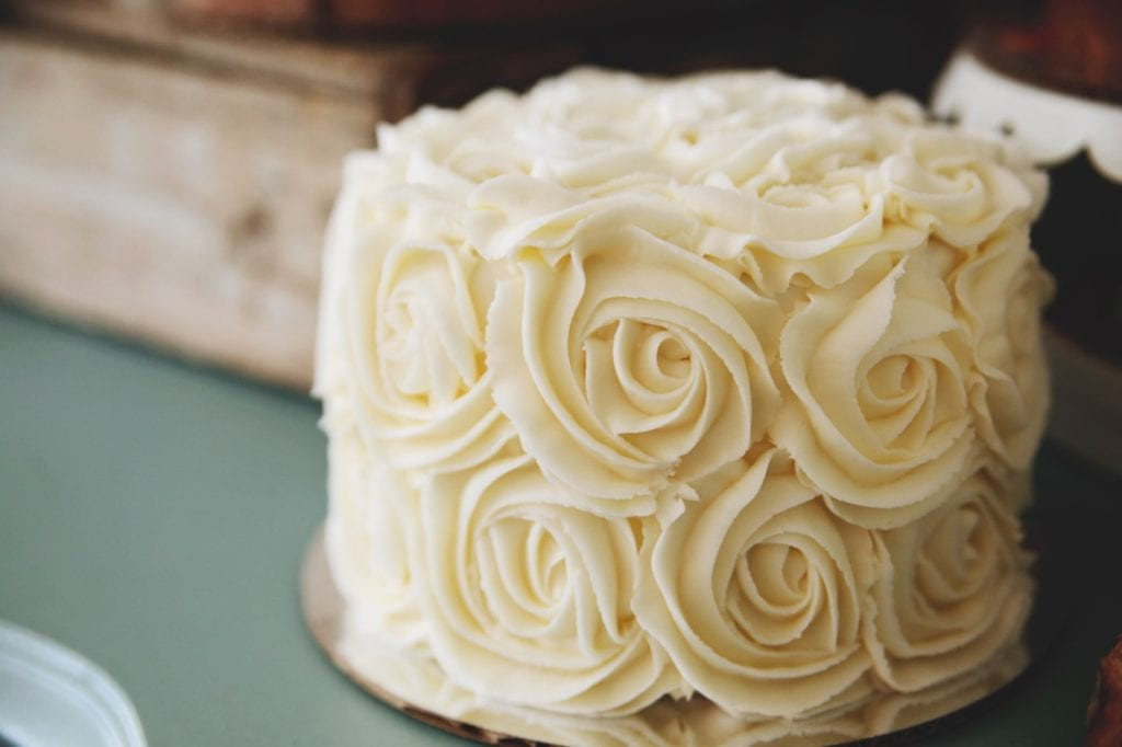 White Buttercream Rosettes