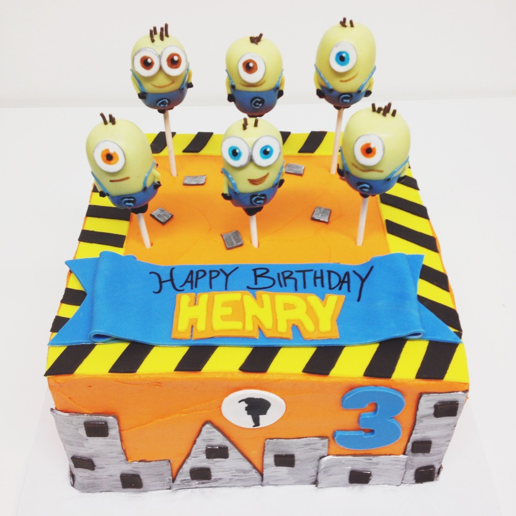Minion Cake and Cake Pops