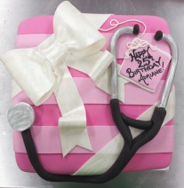 Pink Present Dr Cake
