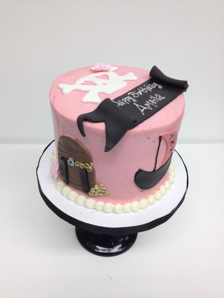 Girly Pirate Birthday Cake