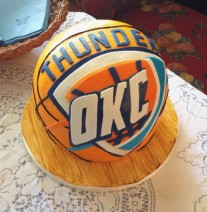 OKC Thunder Basketball Groom's Cake