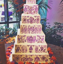 Indian Henna Wedding Cake