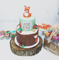 Fox Birthday Cake and Treats