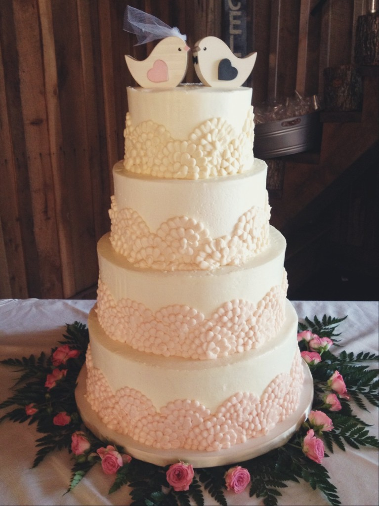 Ombre Buttercream Wedding Cake