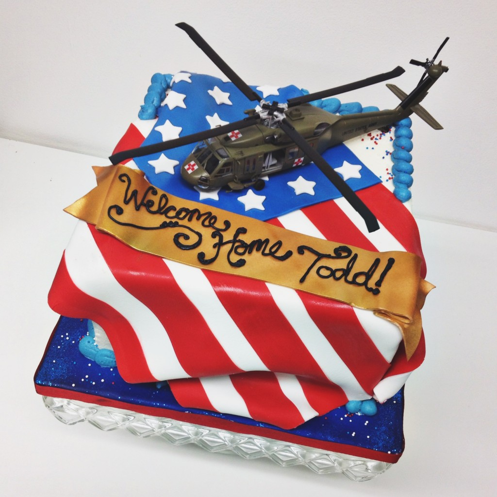 Welcome Home Soldier Cake