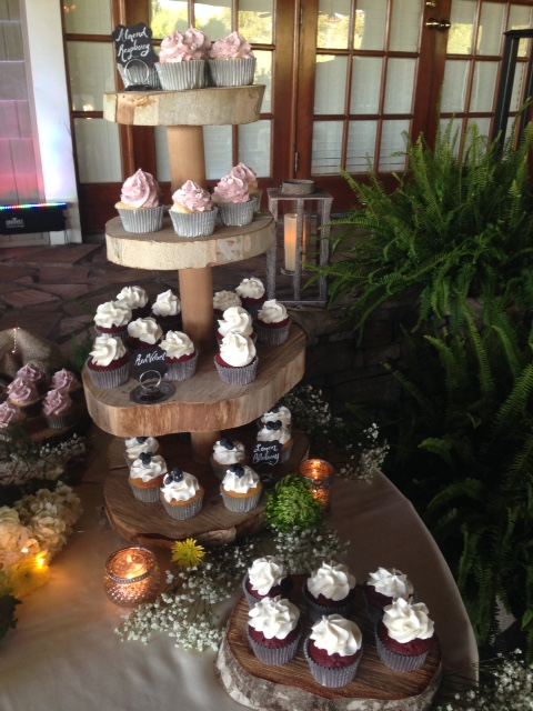 Tree Stump Cupcake Stand