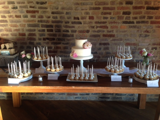 Wedding Cake and Cake Pops